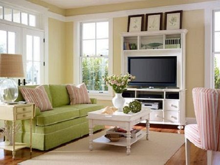 Country Style Living Room Decorating Ideas With Pinky Color Look