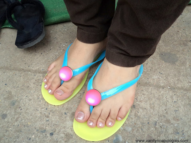 bright yellow flat shoes