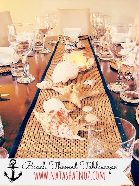 Beach Themed Party & Tablescape, Natasha in Oz