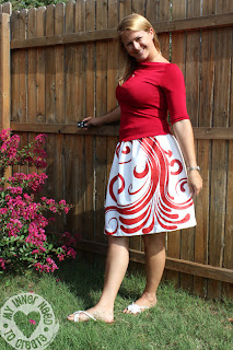 Handpainted Swirl Skirt for Skirt Week