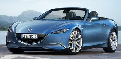 The new Model 2014 Mazda MX-5 surface rendering, model 2014 will lose