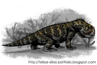 reptiles en el triasico Teyumbaita