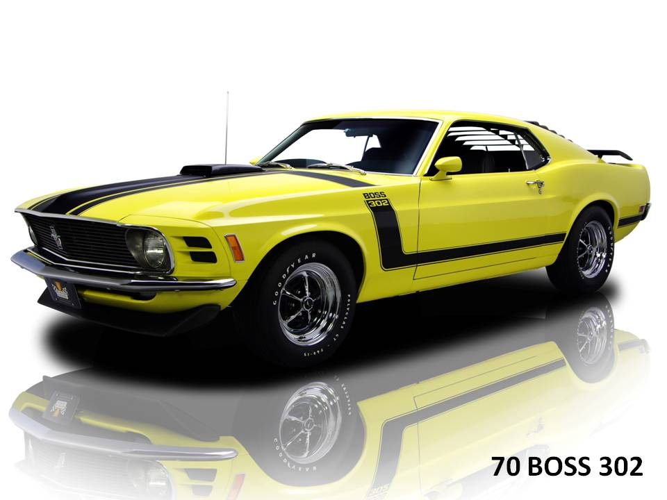 boss and mach 1 are 2 macho variants of mustang the most macho ones ...