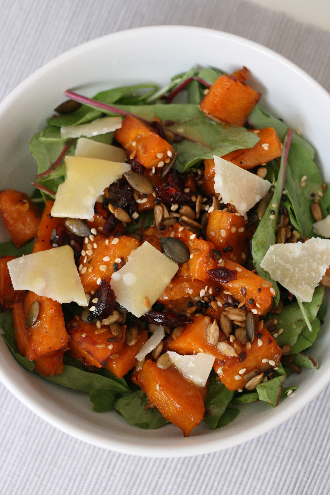Maple-Roasted Butternut Squash Salad with Warm Apple Vinaigrette ...