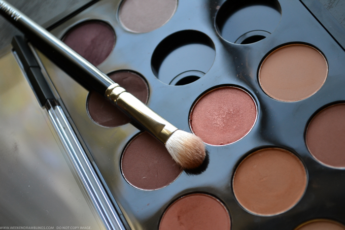 Neutral Work Office Makeup with warm brown MAC eyeshadows Brown Script Coppering Typographic Indian Darker Skin Tutorial Easy Steps Photos How To Blog