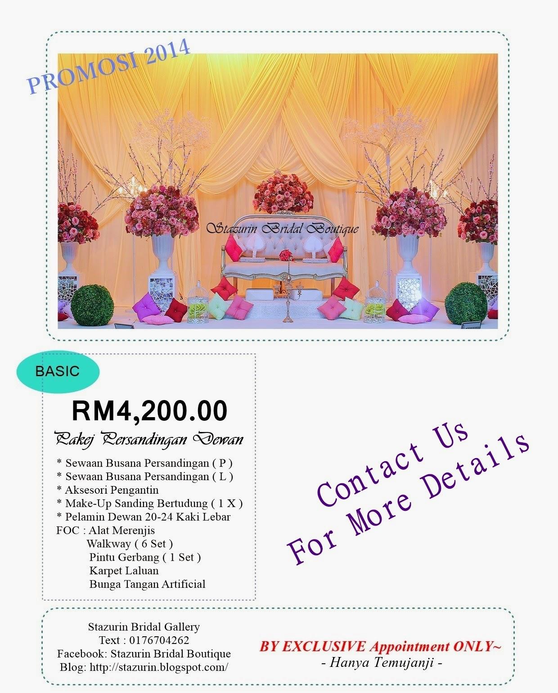 PROMOSI PAKEJ DEWAN RESEPSI RM4,200.00 EKSKLUSIF 2014&2015