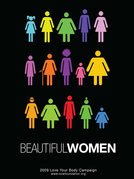 Cartel o Poster campaña Ama tu cuerpo  Mujer