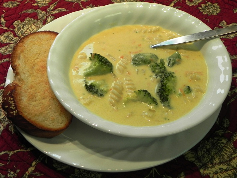 Broccoli Soup With Pasta Recipe — Dishmaps