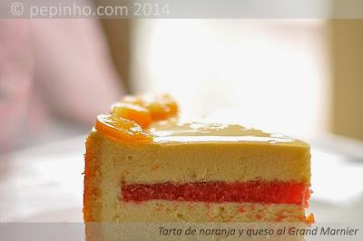 Tarta de naranja y queso al Grand Marnier