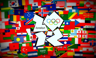 London Olympic Logo with Olympic Flags