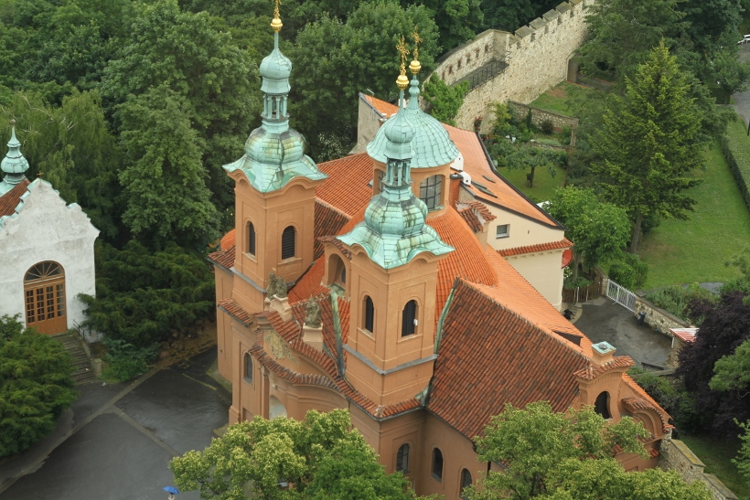 Prague Petrin Tower view
