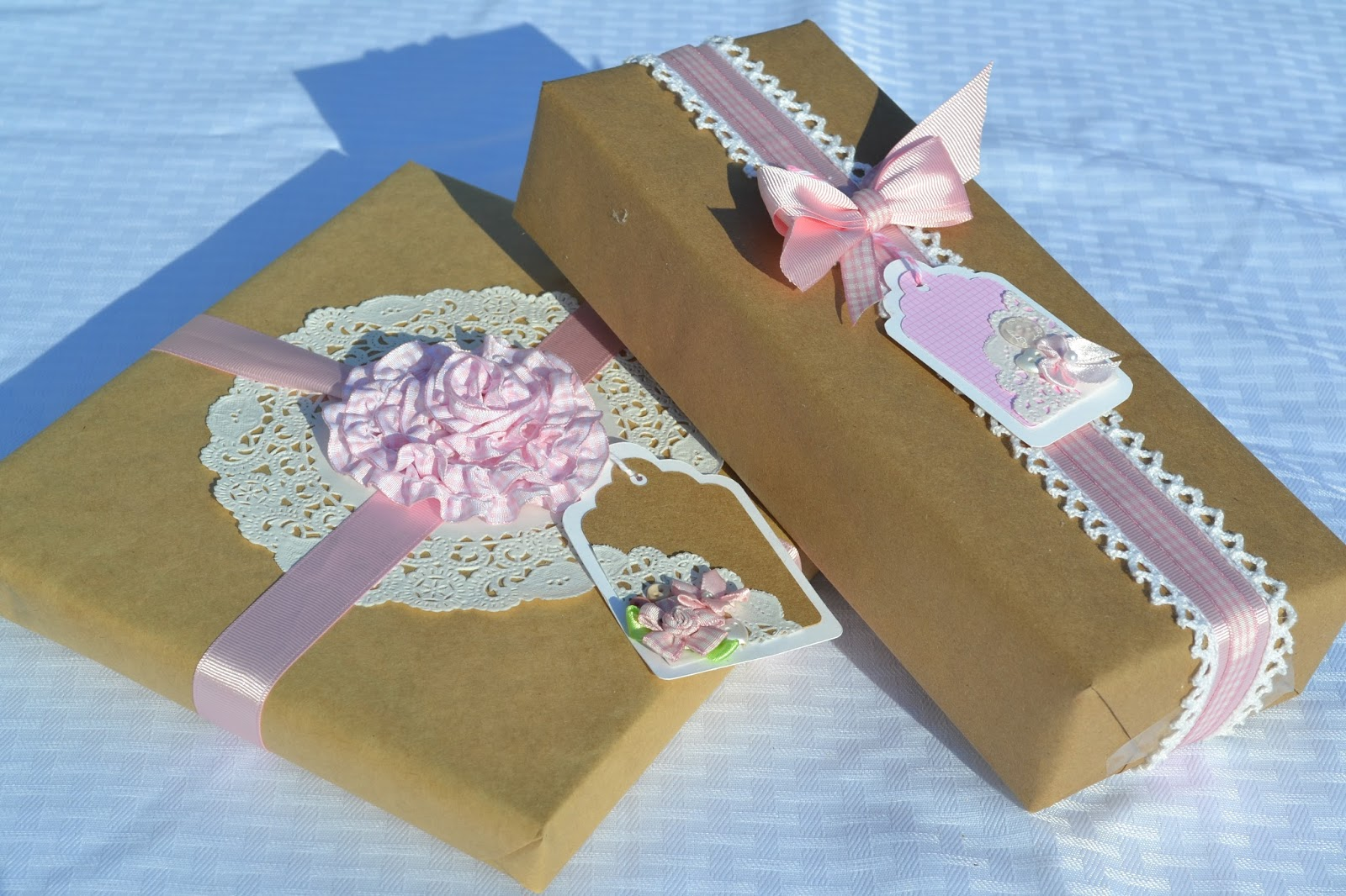 Baby Shower Gift Packaging Ideas : Corner of plaid and paisley gift wrapping posts
