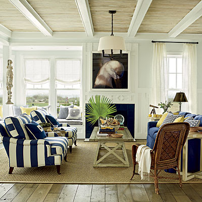 Design dump coastal living ultimate beach house for Beach cottage style living room furniture