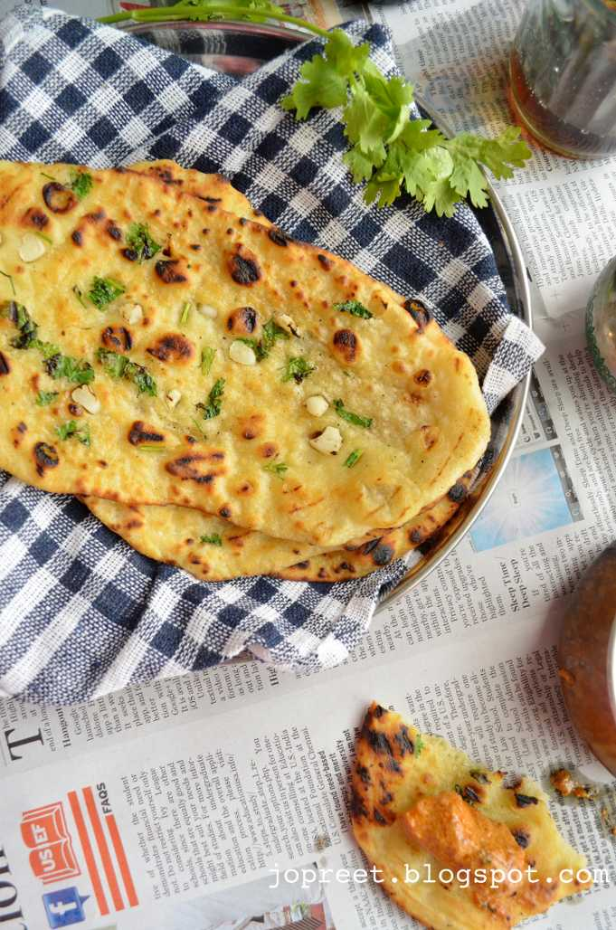 how to make naan bread without yeast