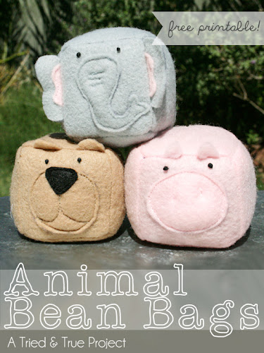 http://www.triedandtrueblog.com/animal-bean-bags/