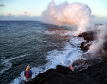 Leigh filming ocean entry lava June 2013
