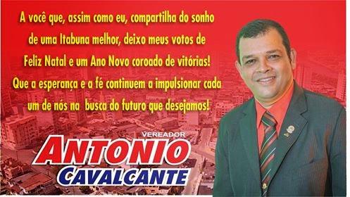 MENSAGEM DE NATAL DO VER. ANTONIO CAVALCANTE
