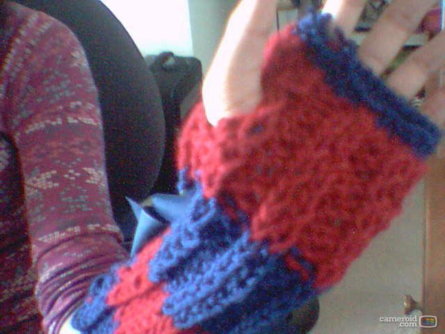 Knitting Mittens With Straight Needles : Blueberry ice knits fingerless elbow gloves mittens base
