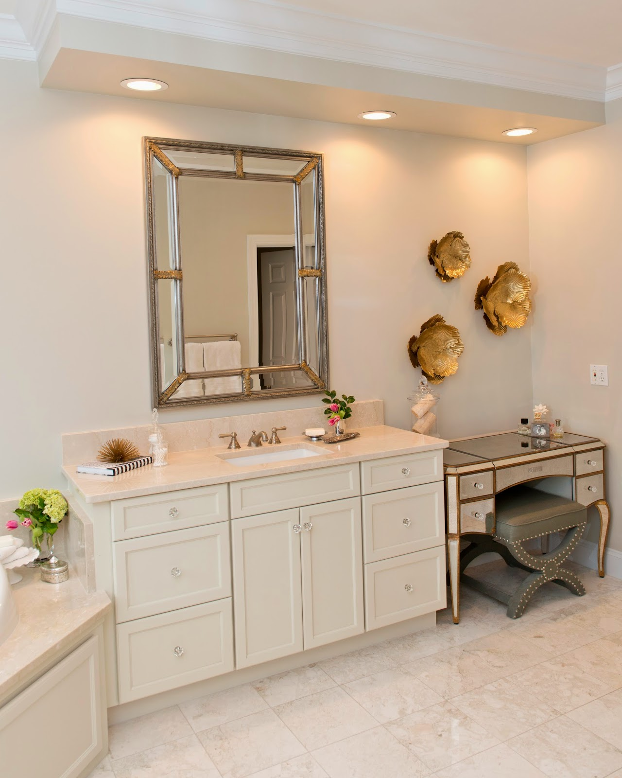 Birds Of A Feather: Master Bath Beauty: Before and After