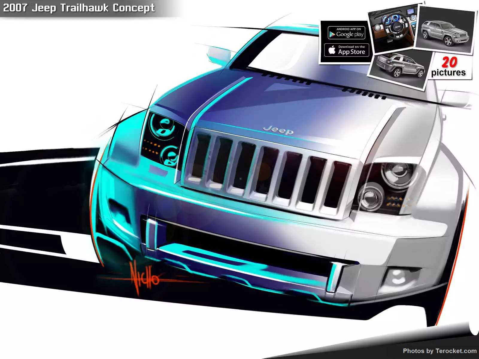 Hình ảnh xe ô tô Jeep Trailhawk Concept 2007 & nội ngoại thất