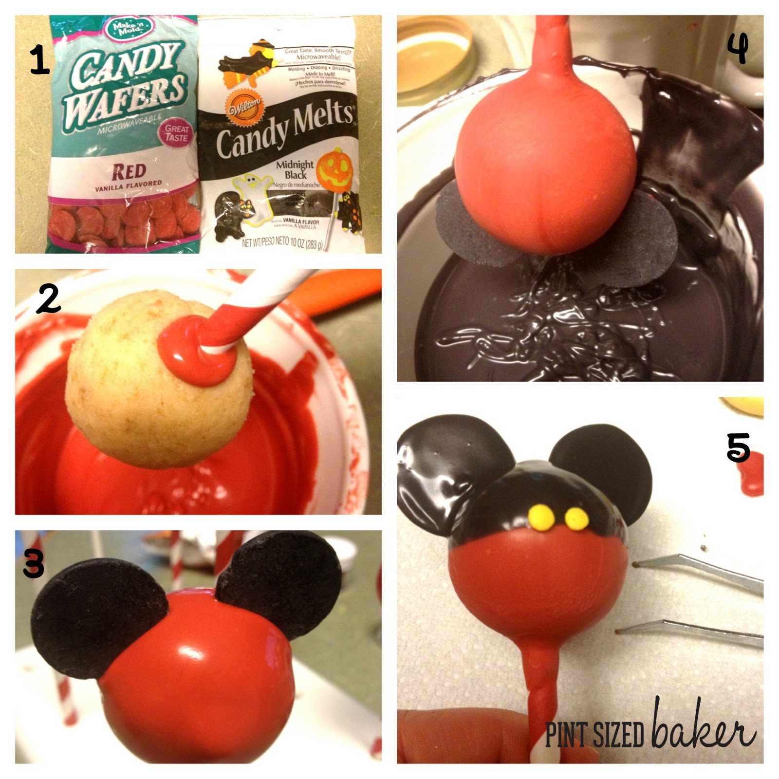 Mickey and Minnie Mouse Cake PopsMickey And Minnie Cake Pops Instructions