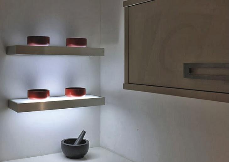 estantes luz cocina