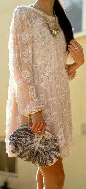 White Lace Flower Long Shirt