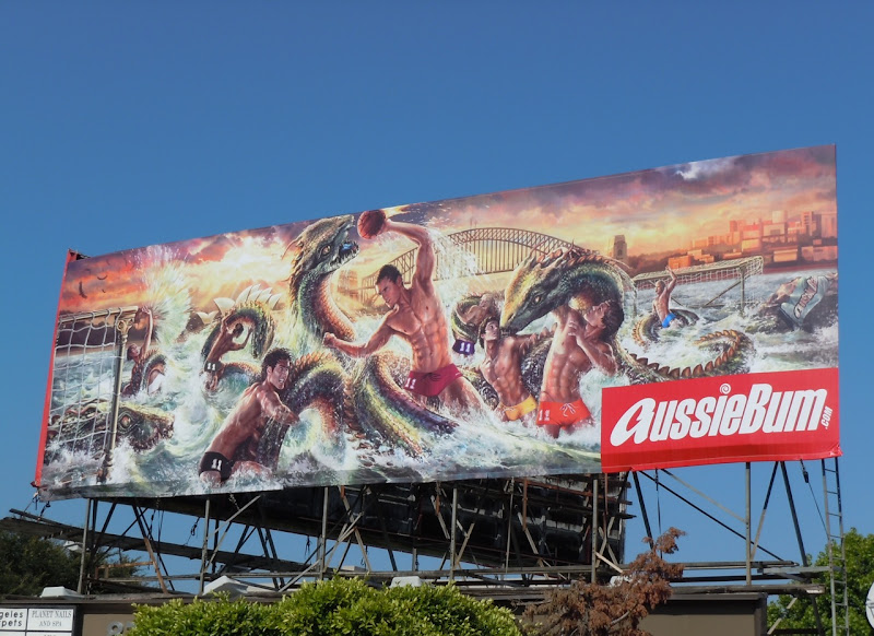 AussieBum Hydra water polo billboard