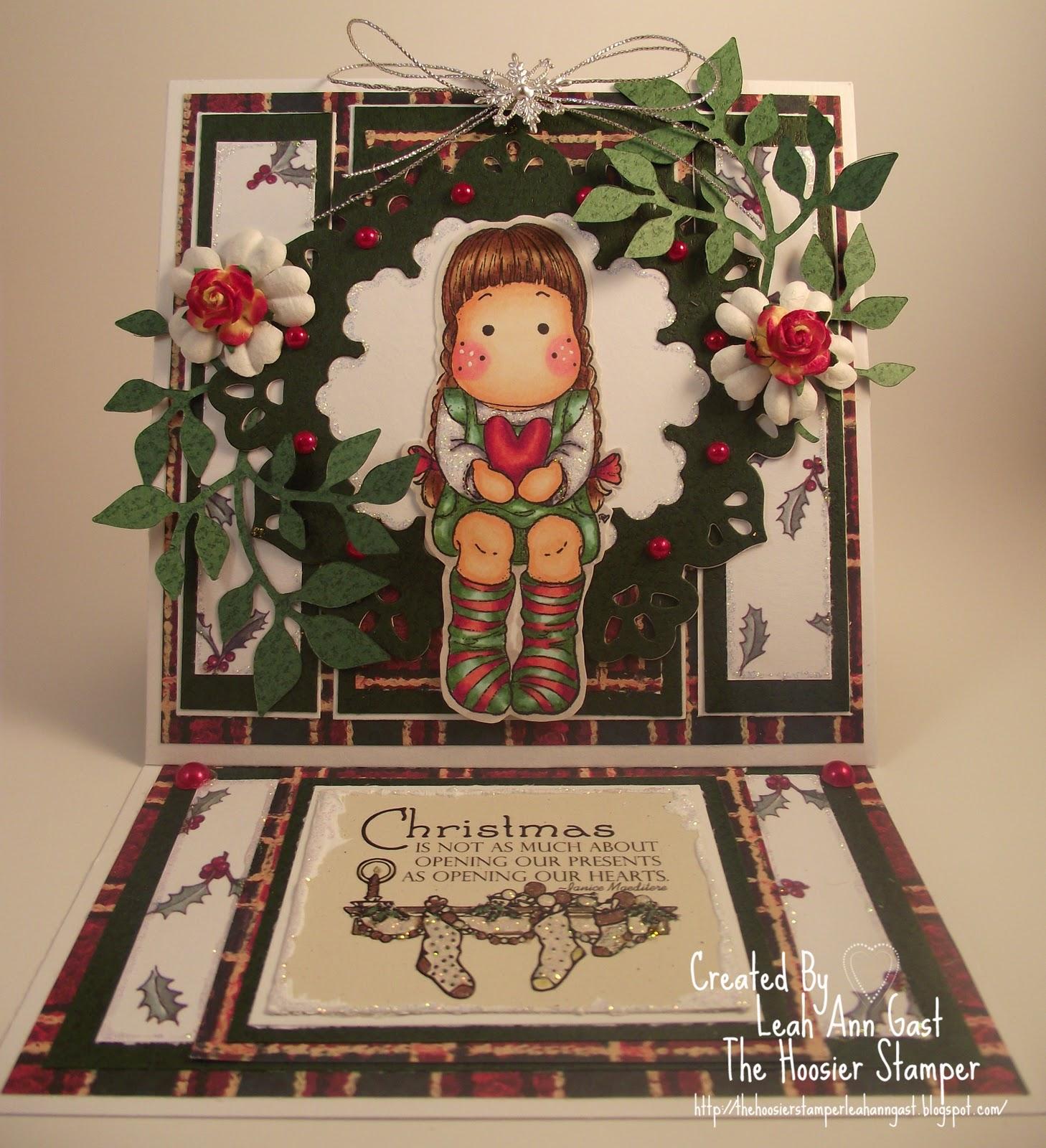 Handmade OOAK Cards By The Hoosier Stamper Magnolia