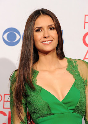 Nina Dobrev Long Center Part Hairstyles