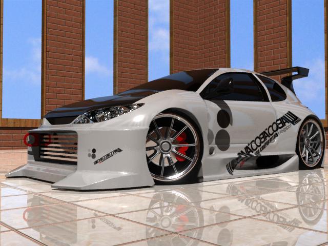 3D MODEL car PEUGEOT 206 WRC DAMN LOW