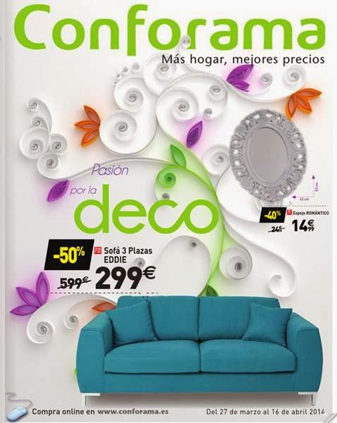 catalogo conforama deco hogar abril 2014