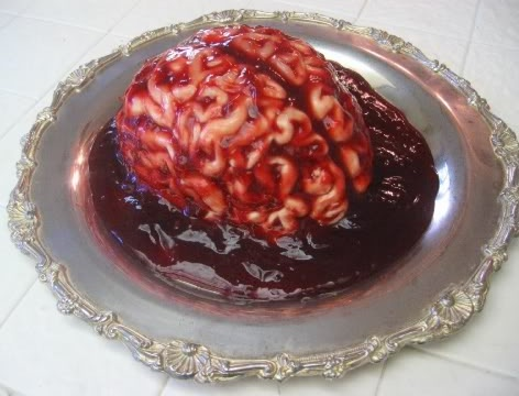 Panna Cotta (brain style) with Pomegranite Sauce