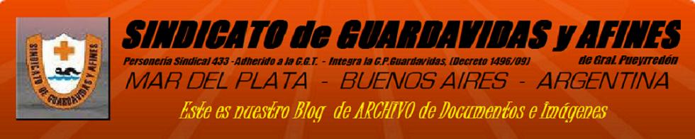 GUARDAVIDAS MDQ ARGENTINA BUENOS AIRES MAR DEL PLATA SINDICATO