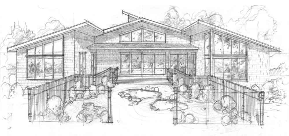 Planos y fachadas de casa habitaci n de un nivel con 4 for Planos de fachadas