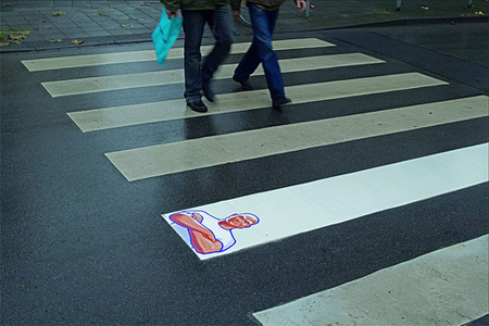 Mr. Clean crosswalk