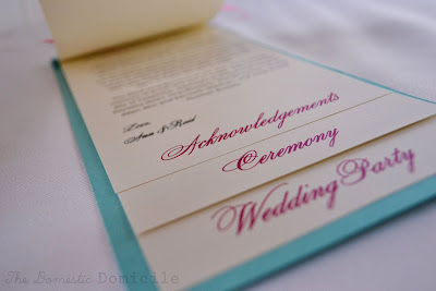 For All The Pictures And Details Go Thedomesticdomicileblogspot 2011 08 Diy Wedding Revisited Programs
