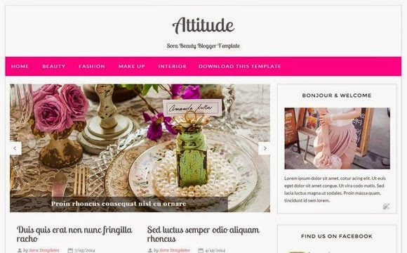 Attitude Free Feminine Blogger Template