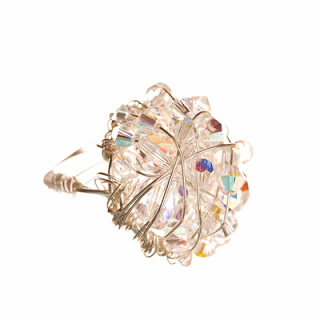 cocktail ring, crystal ring, elisha francis, statement jewelry
