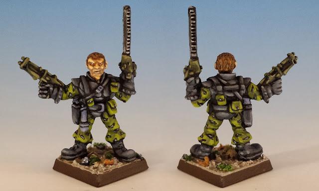Talisman Timescape Chainsaw Warrior, Citadel (sculpted by Trish Morrison, 1988)