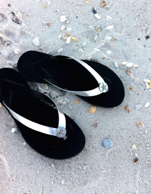 summer sandals with starfish design