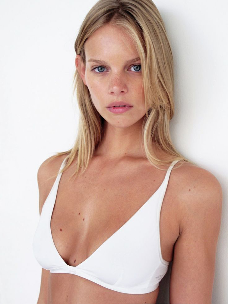 Marloes Horst, mode, babe, white bra, girl next door, natural beauty, polaroid