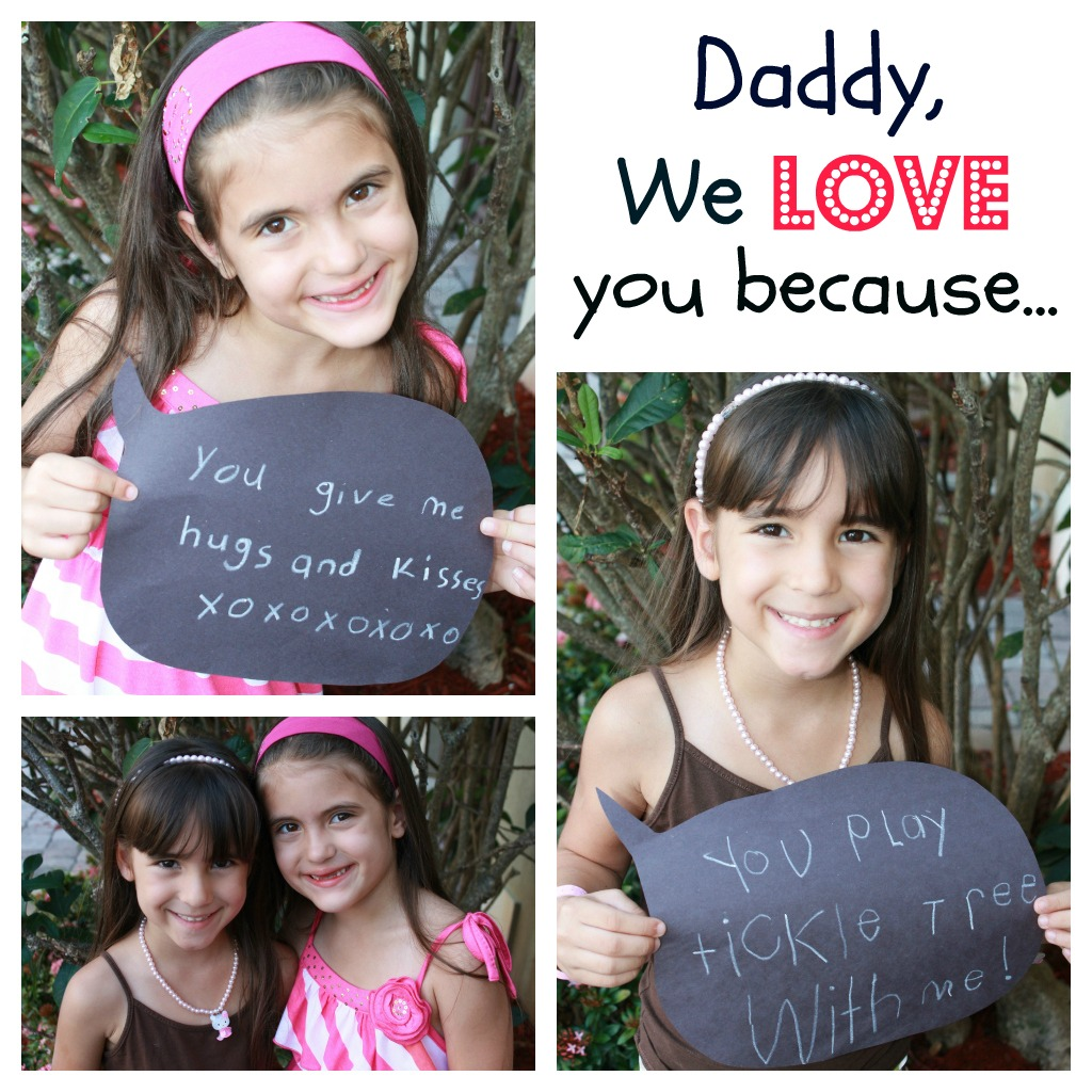 Mom to 2 Posh Lil Divas: Daddy We LOVE You Because... (Happy ...