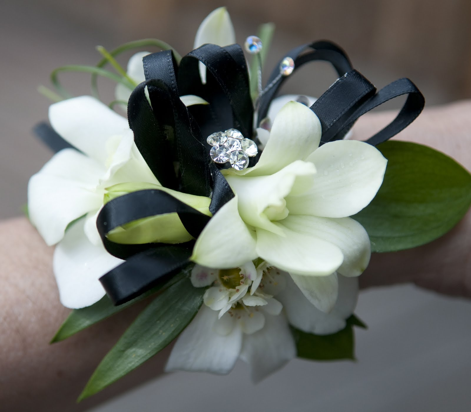 White Orchid Corsage