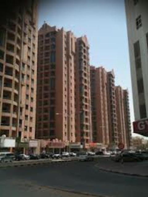 Road side view of Ajman Naimiyah Tower, 1BHK available for rent in Ajman only at 24,000/year, Ajman Property Finder