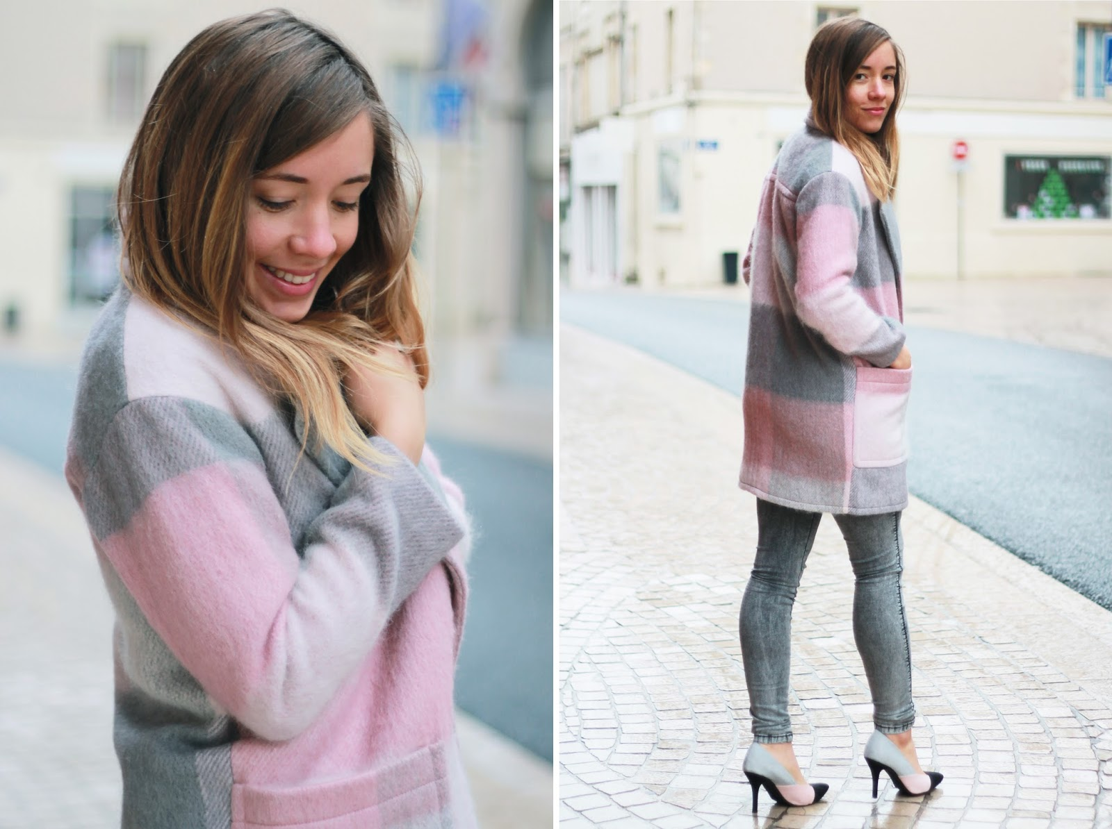 Manteau rose hiver
