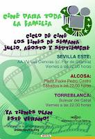 En julio, agosto y principios de septiembre de 2012 cine de verano para familias en Sevilla