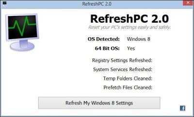 Lakukan Refresh PC Windows 8 Dengan Mudah