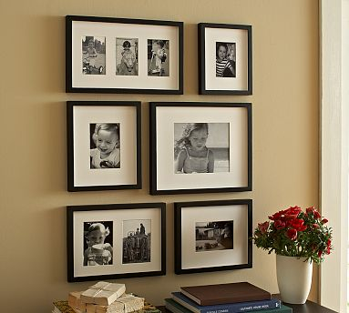Cottage Blue Designs: White Frame Black & White Photo Arrangement