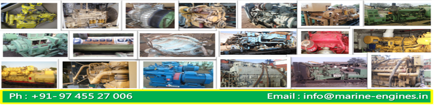 Marine Engines, Marine Generators, Spare Parts